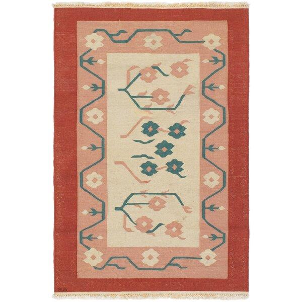 Bungalow Rose Whitted Tribal Gabbeh Handwoven Flatweave Wool Red Brown Area Rug Wayfair
