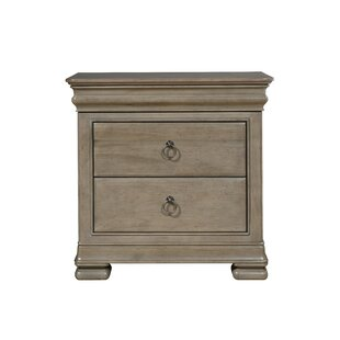 Best Reviews Baily 3 Drawer Wood Nightstand by Darby Home Co