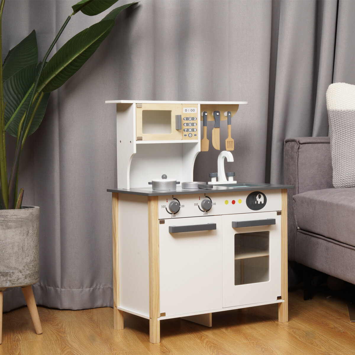 Zakicol Pretend Wooden Kitchen Playset For Kids And Children Gifts For New Year Christmas And Birthday White Wayfair
