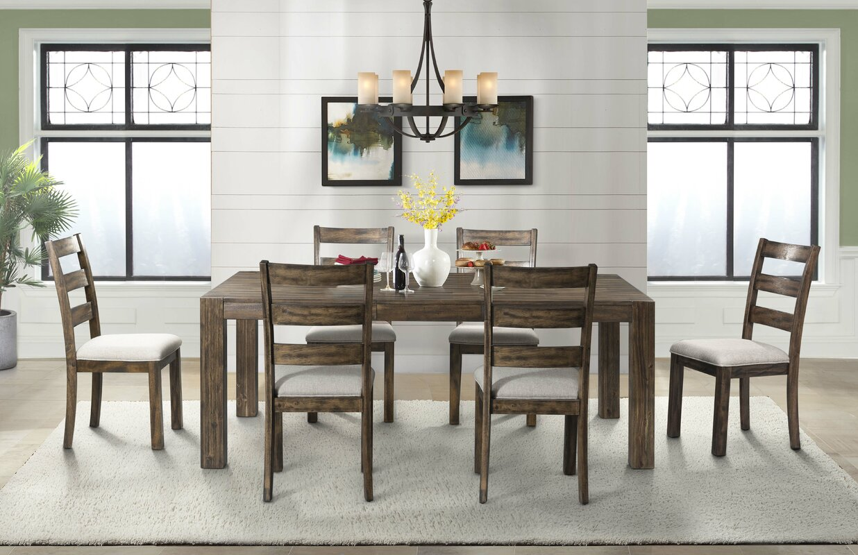 Extendable Dining Room Table Gracie Oaks Chelton 7 Piece Extendable Dining Set & Reviews  Wayfair