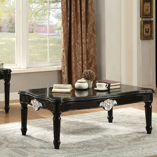 Amberly Traditional Rectangular Wooden Coffee Table by Astoria Grand