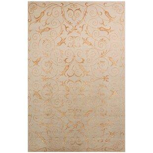 Compare & Buy Chandler Tibetan Hand Knotted Silk/Wool Slate/Gold Area Rug ByHouse of Hampton