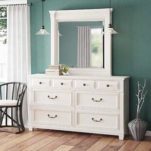 Beachcrest Home Randolph 6 Drawer Dresser with Mirror