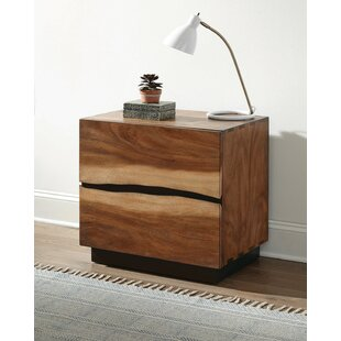 Schmitt 2 Drawer Nightstand by Loon Peak