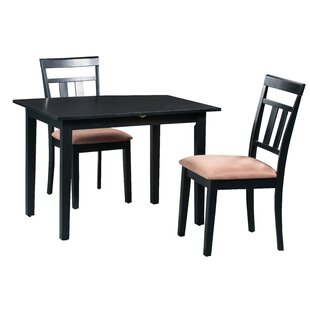 Fontinella 3 Piece Extendable Solid Wood Dining Set by Alcott Hill Today Sale Only
