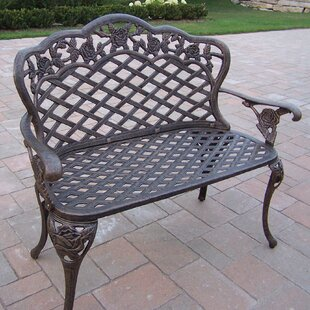 Tea Rose Aluminum Garden Bench