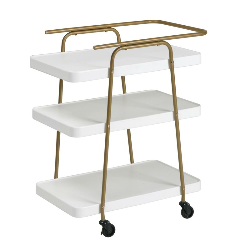 Turn on the Brights  Corinne 3 Tier Bar Cart