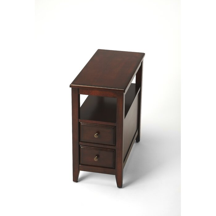 Claysburg Chairside End Table With Storage Reviews Birch Lane