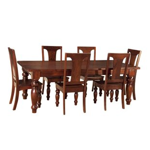 Musson 7 Piece Solid Wood Dining Set Charlton Home