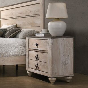 Gracie Oaks Manzano 3 Drawer Nightstand