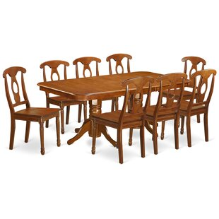 Pillsbury Traditional 9 Piece Wood Dining Set August Grove