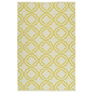 Tyesha Cream & Yellow Indoor/Outdoor Area Rug