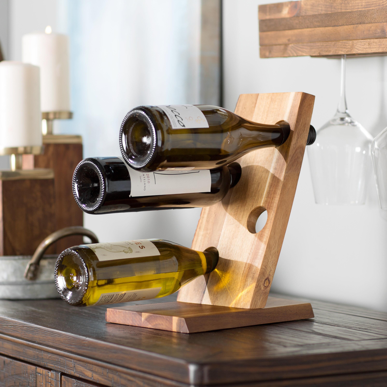 Loon Peak Bannan 4 Bottle Tabletop Wine Bottle Rack Reviews Wayfair