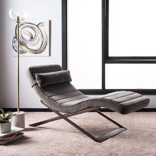 Bisantz Velvet Chaise Lounge