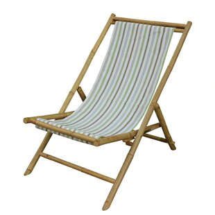 Highland Dunes Denna Folding Bamboo Relax Sling Beach Chair