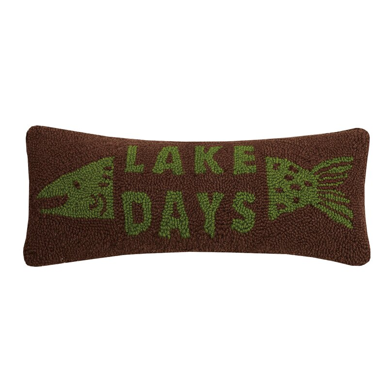 Millwood Pines Granillo Lake Days Wool Lumbar Pillow Wayfair