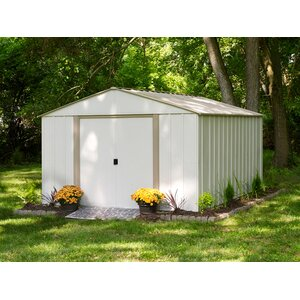 Oakbrook 10 ft. 3 in. W x 13 ft. 7 in. D Metal Storage Shed