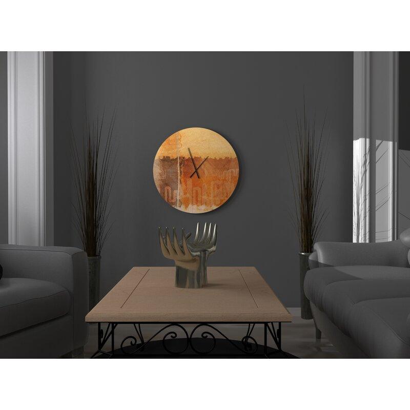 Ebern Designs Crucial Most Abstract Wall Clock Wayfair