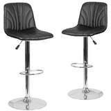 Gruber Swivel Adjustable Height Bar Stool (Set of 2) by Orren Ellis
