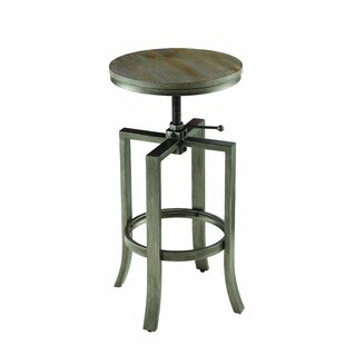 Fiedler Adjustable Height Bar Stool Set of 2 by 17 Stories