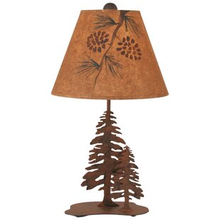 Rustic Living Iron Pine Trees 33 Table Lamp
