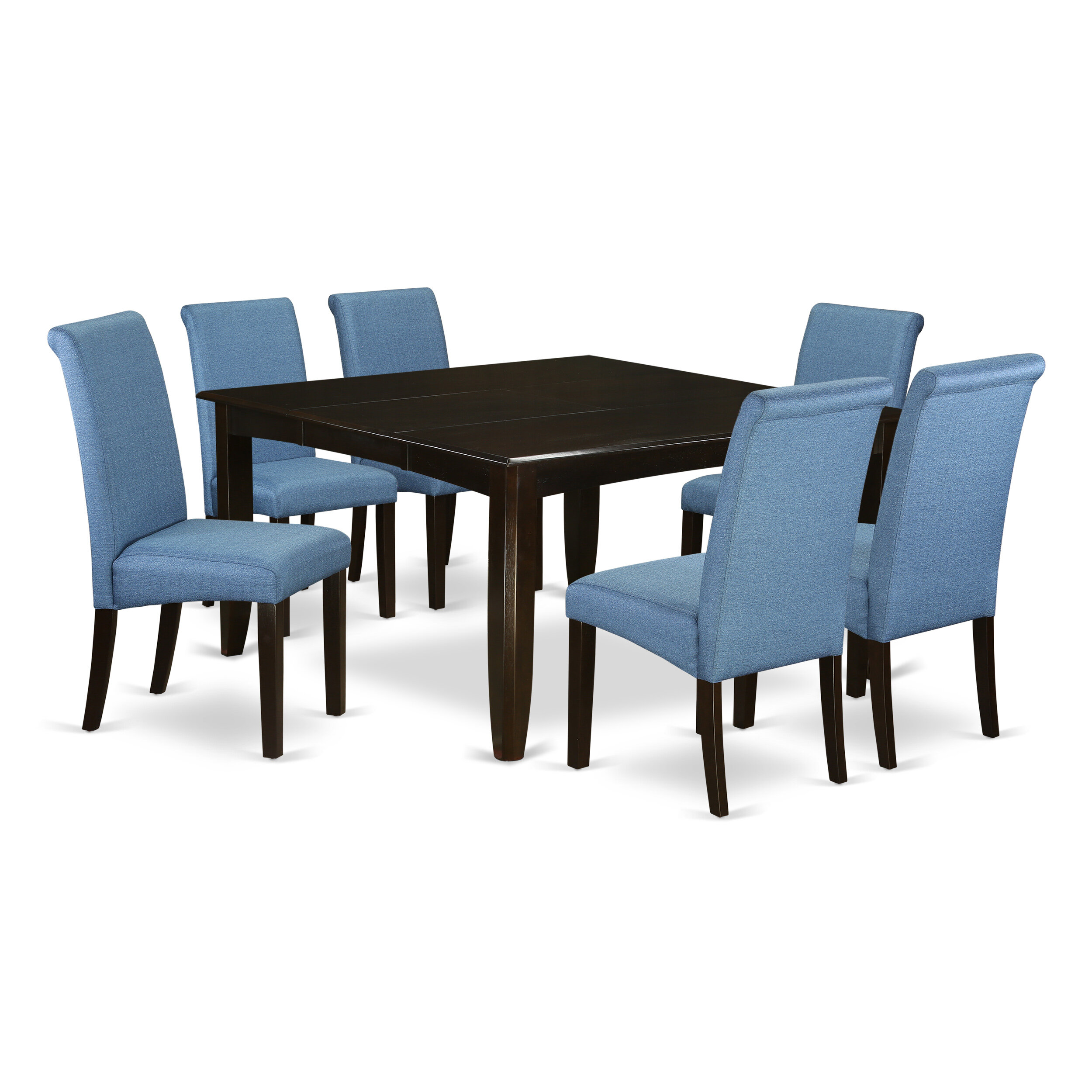 Marlene Square Kitchen Table 7 Piece Extendable Solid Wood Dining Set