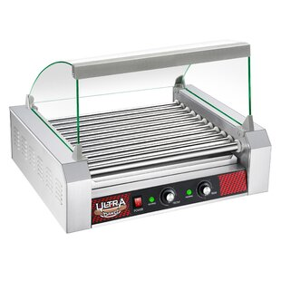 11 Roller Hot Dog Grilling Machine with Cover