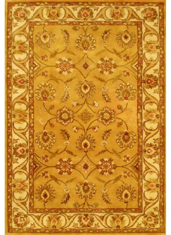 Astoria Grand Rectangle Amy Oriental Handmade Tufted Wool Gold Area Rug Reviews Wayfair