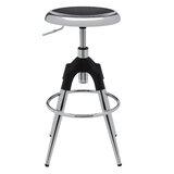 Homou Metal Adjustable Height Swivel Bar Stool (Set of 2) by Wrought Studio™