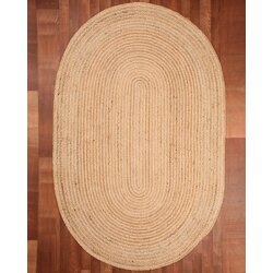 capistrano jute oval all natural fibers hand braided area rug