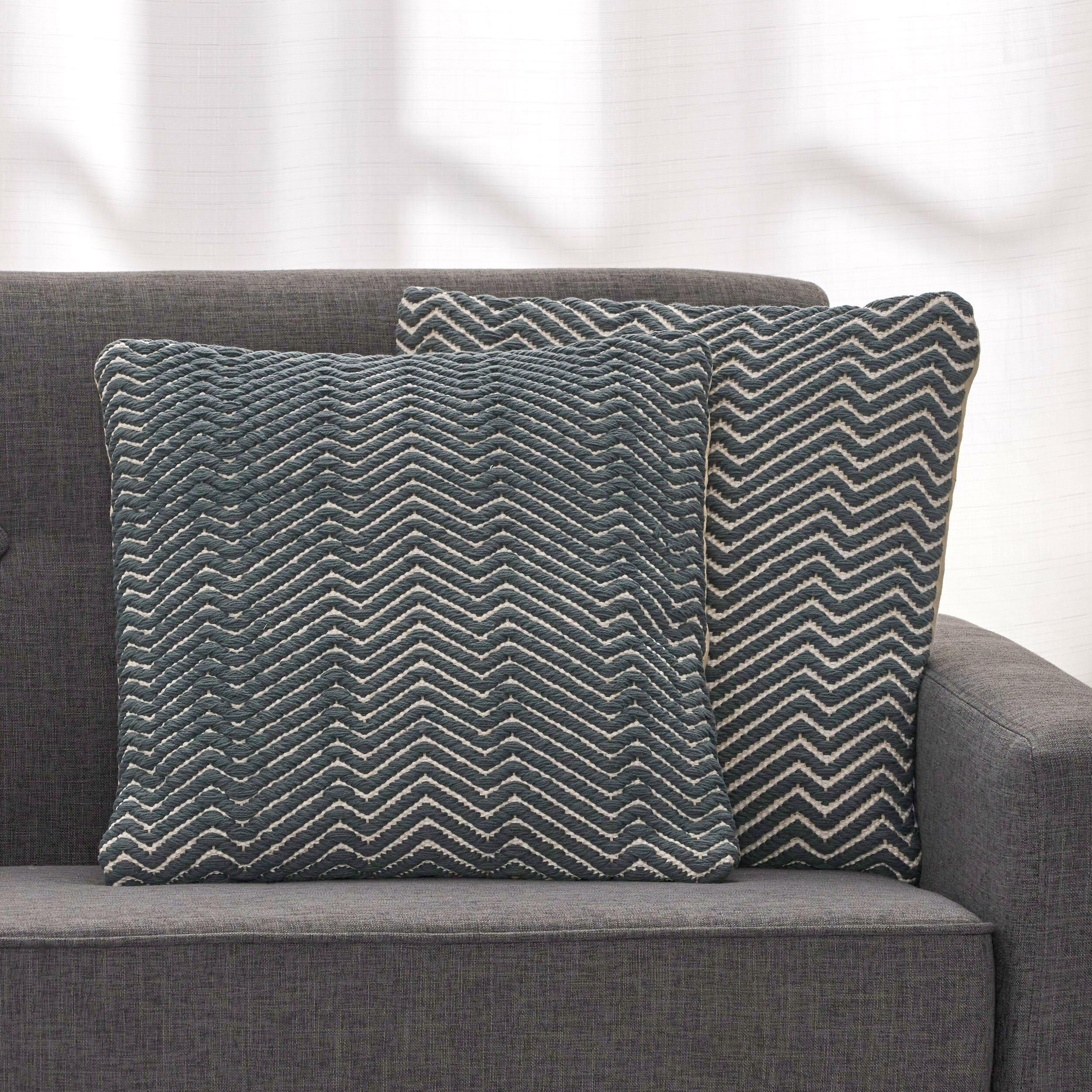 Foundry Select Cotton Geometric 18 Throw Pillow Cover Wayfair