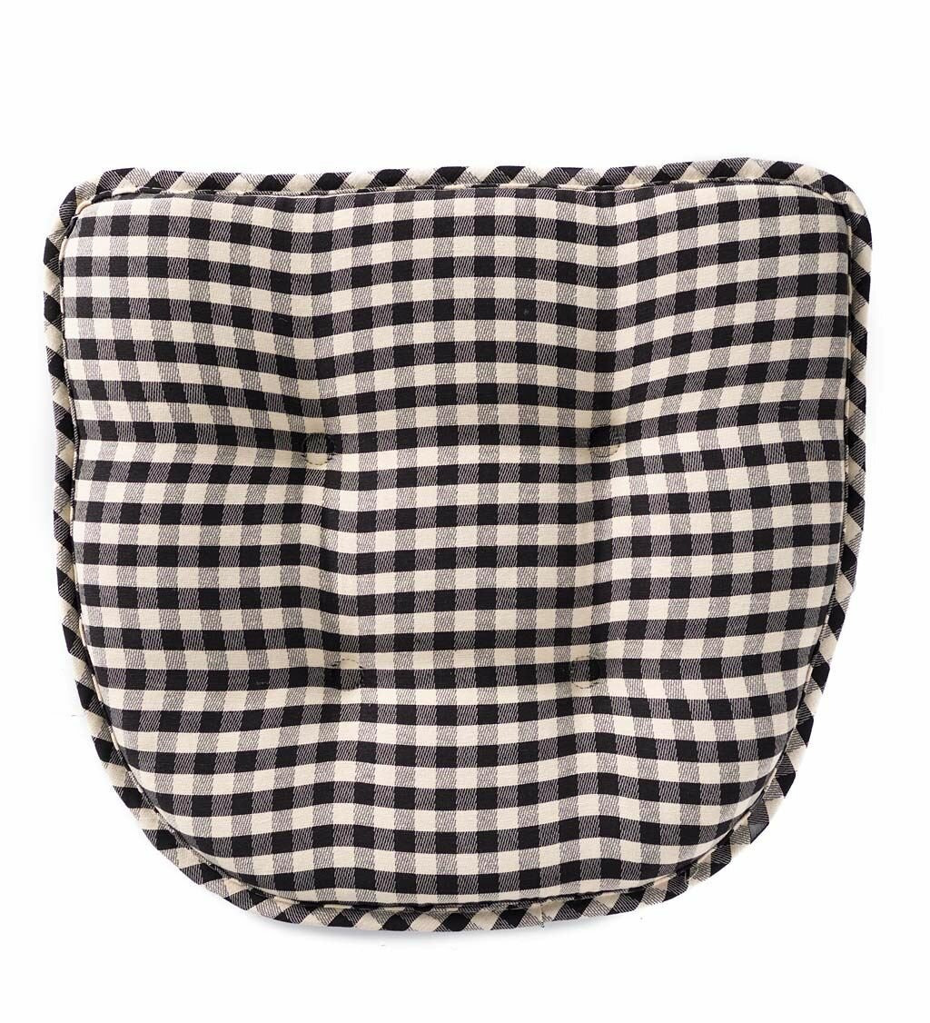 Plow Hearth Non Slip Gingham Indoor Outdoor Dining Chair Cushion Reviews Wayfair