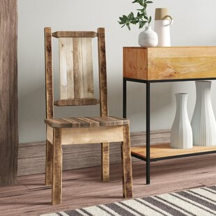 Abella Rustic Solid Wood Dining Chair Loon Peak