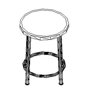 Height Adjustable Stool with Swivel
