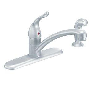Moen Chateau Single Handle Kitchen Faucet with Side Spray