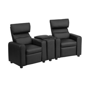 Kids Reclining Home Theater Loveseat Row of 2