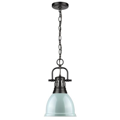Joss Main1 Light Single Dome Pendant Joss Main Finish Black Shade Color Seafoam Size 15 75 H X 8 87 W X 8 87 D Dailymail