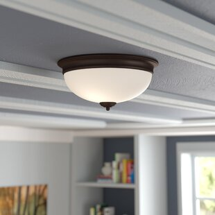 Best Price By ron 2-Light Flush Mount By Charlton Home