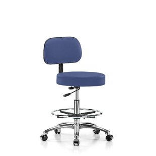Height Adjustable Exam Stool with Foot Ring