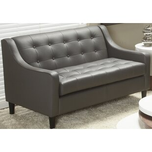 Cameo Top Grain Leather Love Seat by Lind..