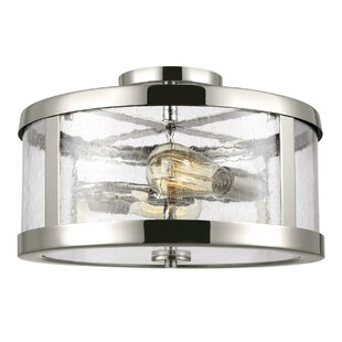 17 Stories Quebisha 2-Light Semi Flush Mount