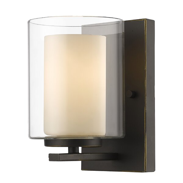 sc 1 st  Wayfair & World Menagerie Cheyne 1-Light Wall Sconce u0026 Reviews | Wayfair azcodes.com