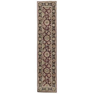 Find for One-of-a-Kind Manchuria Handwoven Runner 2'6 x 12' Wool Black/Wine Area Rug By Bokara Rug Co., Inc.