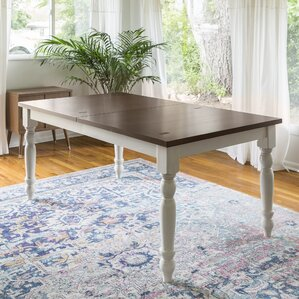 Hodslavice Solid Wood Turned Leg Extendable Dining Table by Bay Isle Home