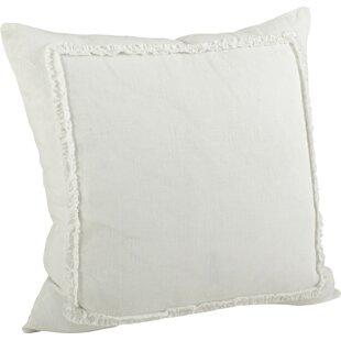 Adali Ruffled Cotton Throw Pillow