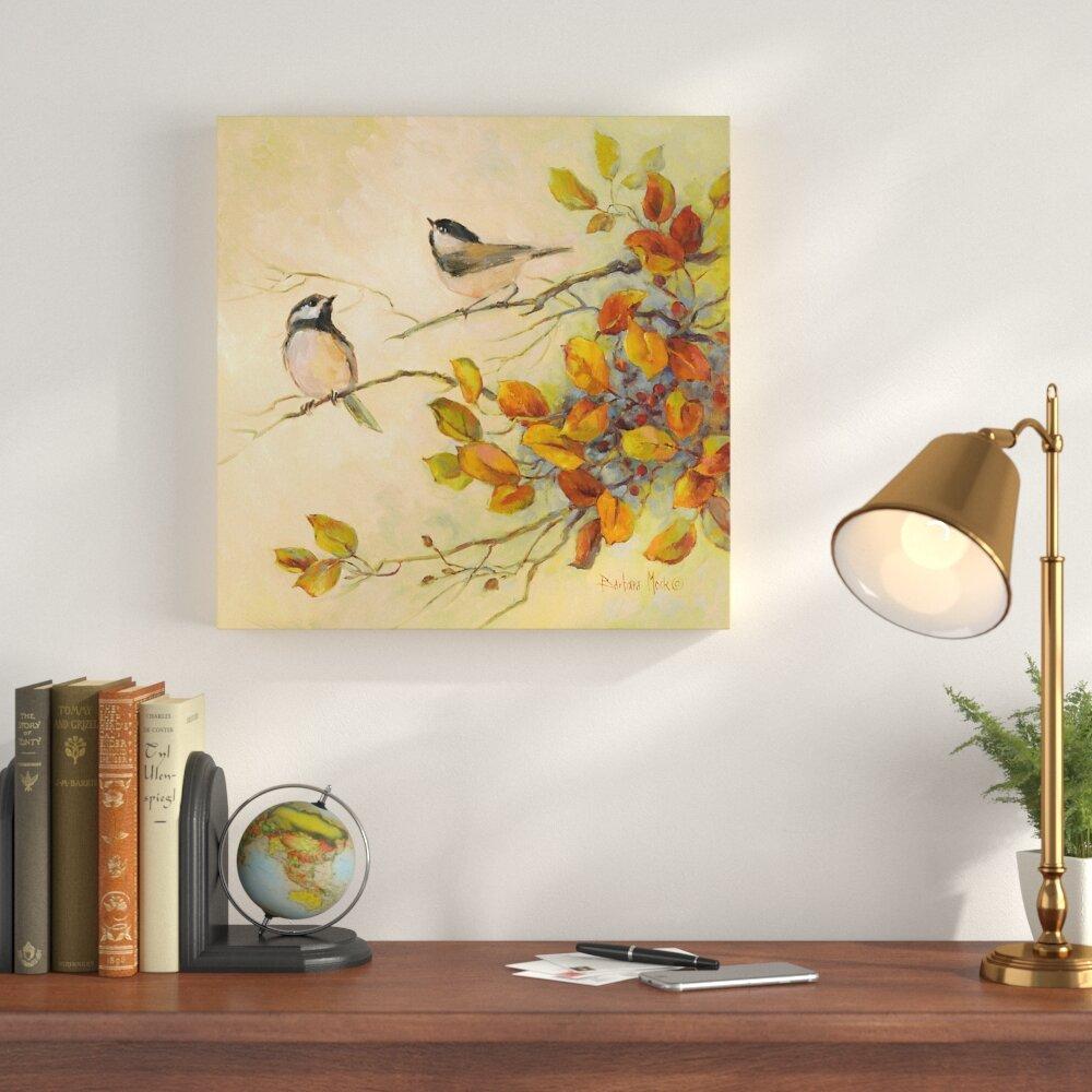 Birds Of Autumn Acrylic Painting Print