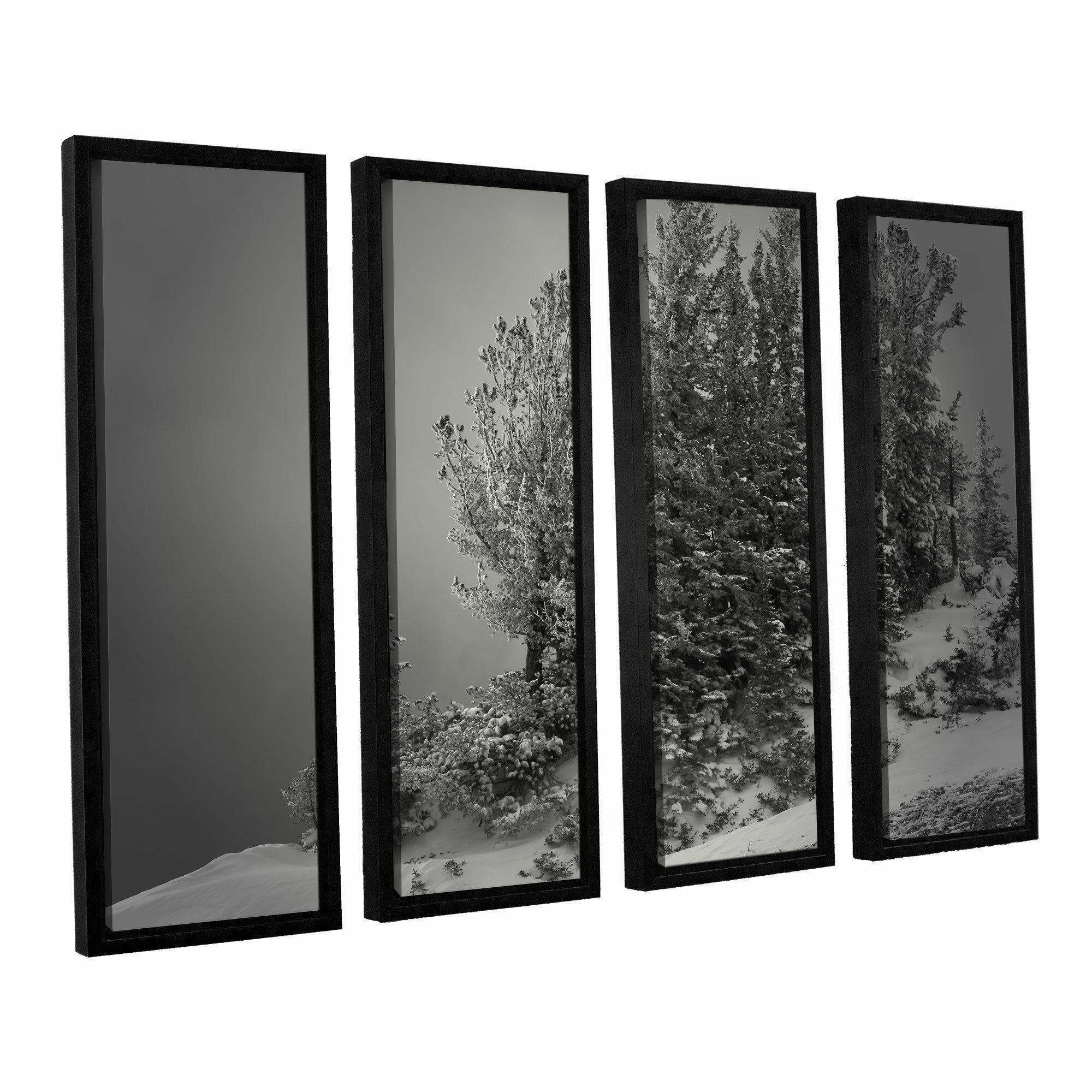 Artwall 10 000 Feet Of Silence By Mark Ross 4 Piece Framed Photographic Print Set Wayfair