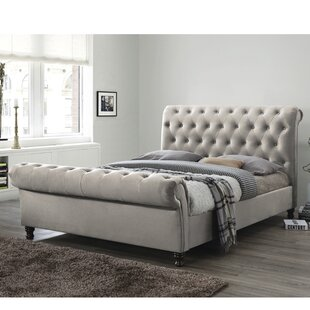 Free S&H Bagot Upholstered Sleigh Bed