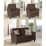 Hayton Fabric Modern 3 Piece Living Room Set by Charlton Home®