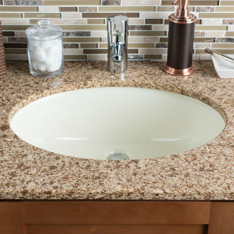 Hahn Ceramic Oval Undermount Bathroom Sink with Overflow | Wayfair
